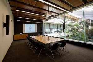 NSW Parliament McKell Room with Screen corporate function space and corporate catering Sydney